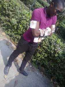 Jones Ayuwo - Standing in Money?? Really? Jones..Really?