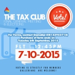 Tax Club Elections!!!