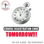 COURSE REGISTRATION!